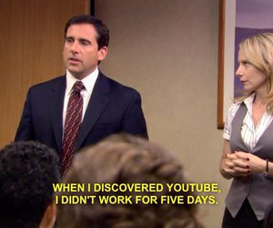 youtube, funny, and the office image