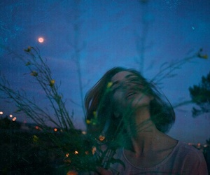 girl, grunge, and blue image