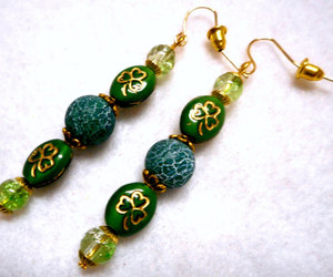 etsy, st patricks day, and green jewelry image