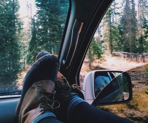 boots, car, and tumblr image