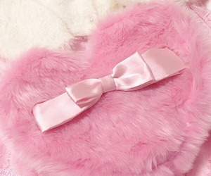 bow, heart, and pink image