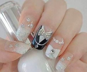 beauty, nails, and wedding image