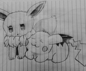 art, drawing, and pokemon image