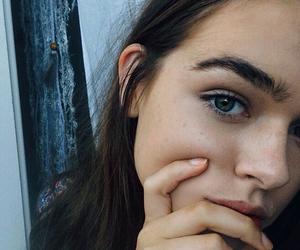 girl, eyebrows, and eyes image