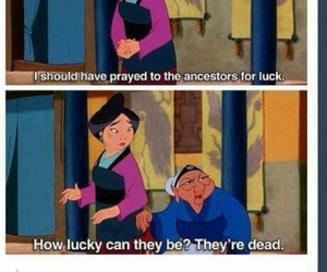 funny, mulan, and quotes image