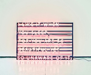 neon lights and the 1975 image