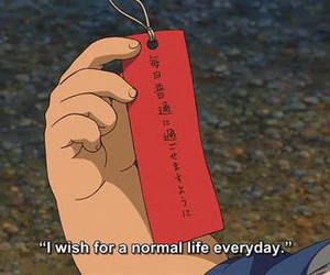 quotes, anime, and wish image