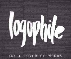 logophile and lover of words image