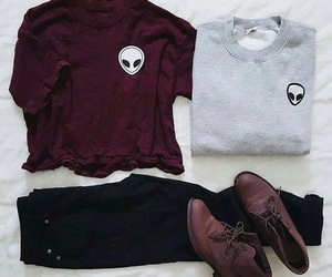 fashion, outfit, and alien image