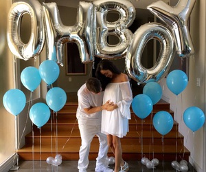 baby, couple, and decor image