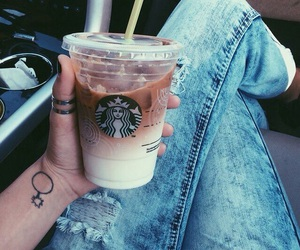 starbucks, drink, and jeans image