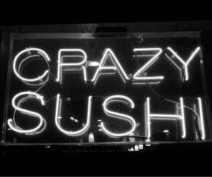 neon sign and sushi image