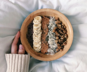 bowl, breakfast, and fruit image