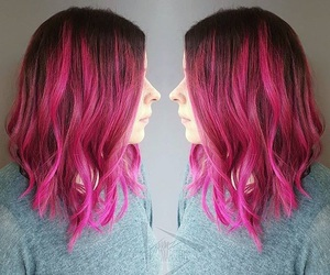 fuchsia, hair, and hairstyle image