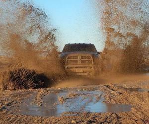 mud, splash, and truck image