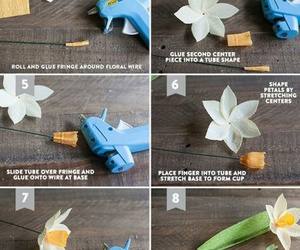 daffodils, diy, and paperflower image