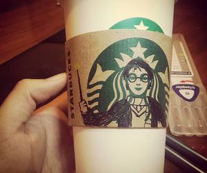 coffe, harrypotter, and starbucks image