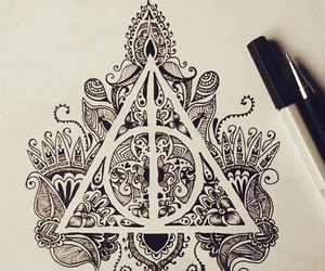 drawing, draw, and harry potter image