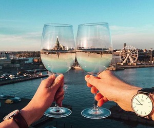 city, travel, and drink image