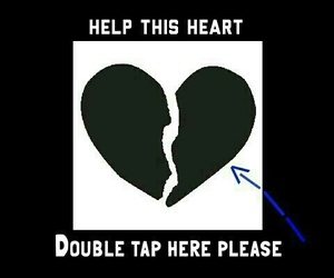 black, heart, and double tap image