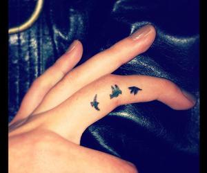 birds, hand, and tattoo image