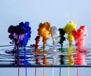 colors, smoke, and water image