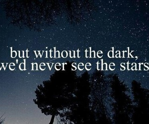 stars, dark, and quotes image