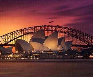 Sydney, australia, and sunset image