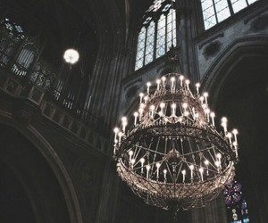 dark, chandelier, and architecture image