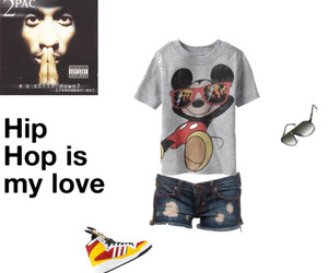2pac, mickey mouse, and shorts image