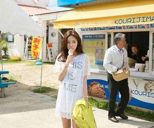 korean fashion and fashion white dress image