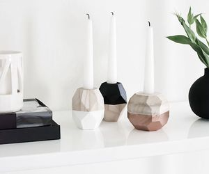 candle, home, and white image