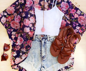 fashion, kimono, and outfit image