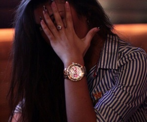 girl, watch, and brunette image