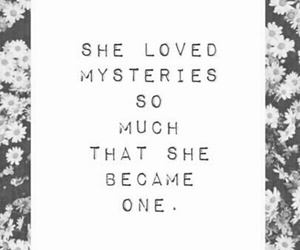 quote, mystery, and she image