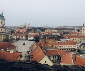 hungary, eger, and cityview image