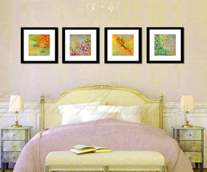 etsy, yellow and green, and modern wall art image