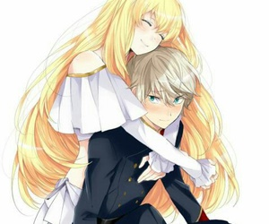 anime, aldnoah zero, and couple image