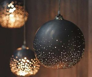 light, black, and decoration image