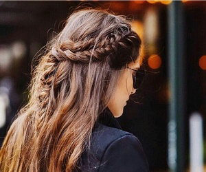 braid, girl, and beauty image