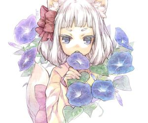 flowers, cute, and fox image