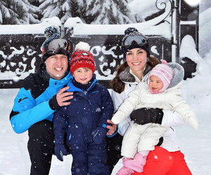 kate middleton, prince william, and princess charlotte image