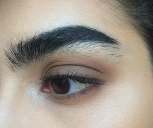 eyebrows, make up, and beauty image