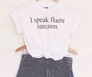 fashion, outfit, and sarcasm image