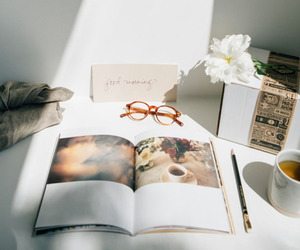 book and morning image