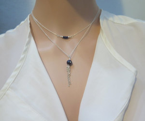 etsy, jewelry, and blue necklace image