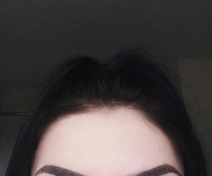 eyes, eyebrows, and hair image