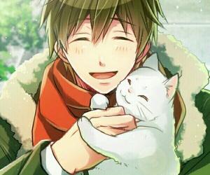 anime, cat, and makoto image