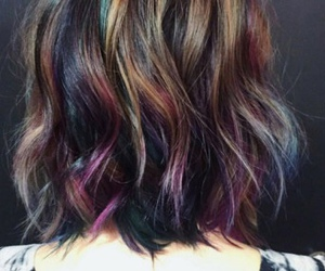 fashion, oil slick, and hair image
