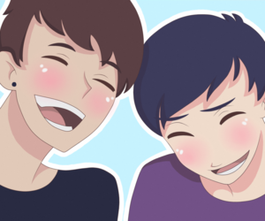 anime, fanart, and phil lester image